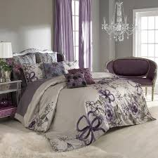 Bed And Bath Duvet Covers Purple And Grey Bedroom By Keeping The Walls A Neutral Grey You