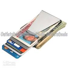 cheap stainless steel side slim money clip card