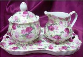 roses teacups chintz pattern porcelain tea cups teapots and sugar sets