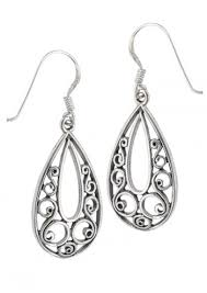 filigree earrings silver teardrop filigree earrings hypoallergenic