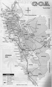 Goa Map Dprm Detailed Politicapol And Road Map