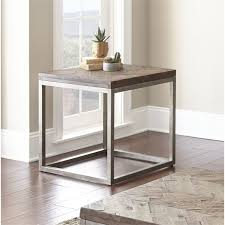 distressed wood end table steve silver lorenza square end table in distressed wood lz100e