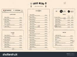 menu publisher template restaurant menu template