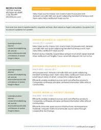 out of the box free resume template will work for food