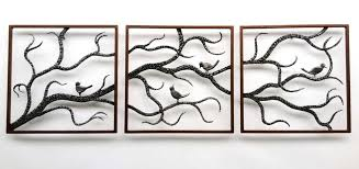 wall design ideas tree brances with birds large metal outdoor
