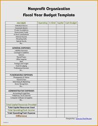 operating budget template elegant 9 non profit bud template