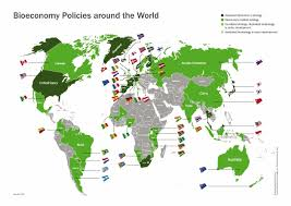 Norway On World Map by Bioeconomy Strategies