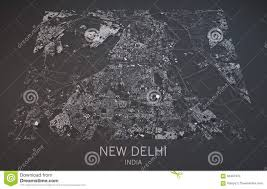 New Delhi India Map by Map Of New Delhi India Satellite View Stock Illustration