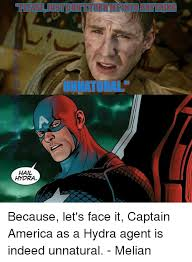 Hail Hydra Meme - hail hydra because let s face it captain america as a hydra agent is