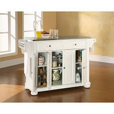 white kitchen island with stainless steel top crosley alexandria stainless steel top kitchen island white