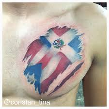 Ripped American Flag Tattoo Dominican Flag Tattoo Designs Group 77