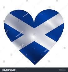 scotland waving flag shape heart vector stock vector 186953315