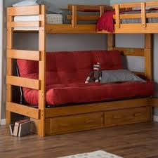 Wood Futon Bunk Bed Plans by Best 25 Bunk Bed With Futon Ideas On Pinterest Elevated Desk
