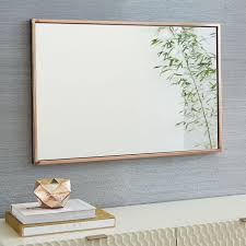 Frames For Bathroom Wall Mirrors Metal Framed Wall Mirror West Elm