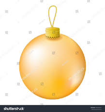 gold christmas tree ball realistic vector stock vector 502406629