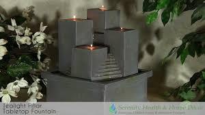 home decor tealight pillar tabletop fountain youtube