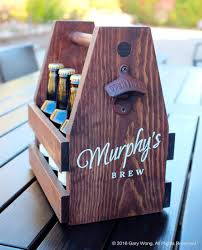 buy a custom personalized wooden caddy tote
