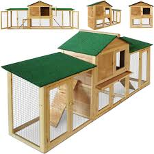 Large Bunny Cage Large Rabbit Hutch Wooden Cage Pet House Small Animal Hamster Run