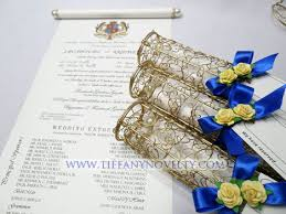scroll invitation handcrafted metal wire invitation scroll holder by