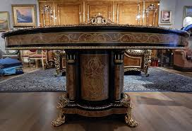High End Dining Room Furniture High End Dining Table King Louis Collection Boulle Marquetry Work