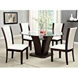 Glass Round Kitchen Table by Amazon Com Glass Table U0026 Chair Sets Kitchen U0026 Dining Room