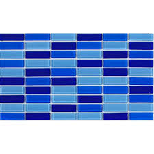 glass tile brick strip kitchen backsplash tiles bathroom wall