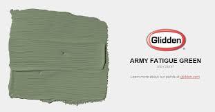 army fatigue green paint color glidden paint colors