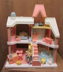 playskool victorian vintage dollhouse lot furniture fisher price
