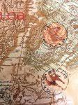 africa map fabric africa kenta map compass exploration world travel vintage