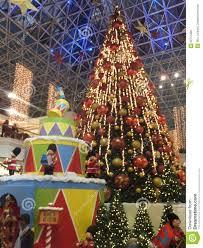 decorations at wafi mall in dubai editorial photo