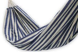 Brazillian Hammocks Hand Crafted Cotton Striped Fabric Hammock Single Maritime