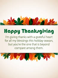 with a grateful happy thanksgiving card birthday