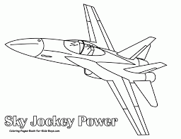 jet plane coloring pages coloring