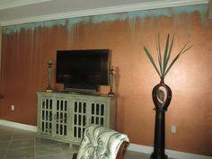 Copper Walls Patina Ceiling In Blues U0026 Greens Veined With Oxidized Rust And