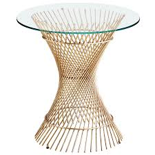 orella gold spiral end table base products pinterest