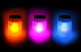 Halloween Glow Jars by Sun Jar Solar Powered Garden Light In A Mason Jar