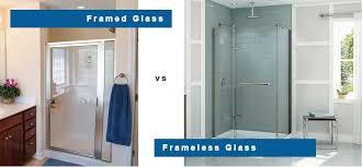 Framed Vs Frameless Shower Door Custom Shower Doors Enclosures Virginia Chesapeake Norfolk