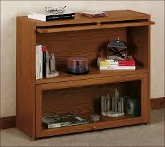 Natural Wood Bookcases Custom Glass Door Shaker Bookcase Natural Cherry Walnut Oak Or
