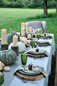 Thanksgiving Picnic Ideas Simple And Easy Thanksgiving Centerpiece Ideas Using Candles