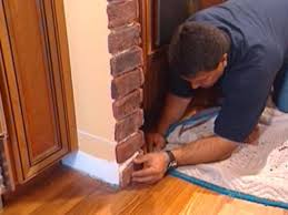 Brick Look Laminate Flooring How To Install Brick Veneer Around An Arched Alcove How Tos Diy