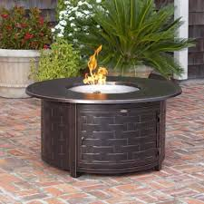 cocktail table fire pit fire sense perissa round propane fire pit patio table woven cast