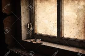 mouse trap in old attic window vintage look stock photo picture