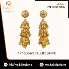 gold earrings jhumka design ethnic looking earring jhumka design available in various styles