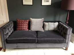 Tufted Modern Sofa by Furniture Best Quality Grey Velvet Sofa For Your Living Room