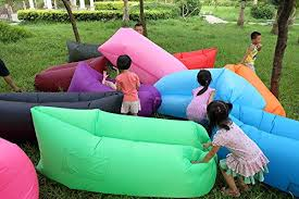 air sofa outdoor inflatable lounger hangout compression sleeping