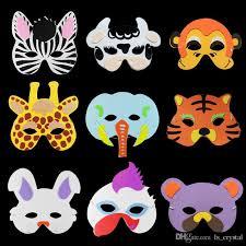 masks for kids animals children mask half color lovely