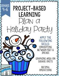 winter project based learning for 5th grade plan a holiday party