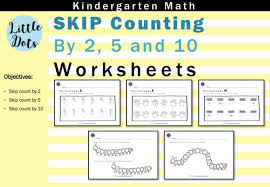 skip count by 2 5 and 10 worksheets for kindergarten to grade 1