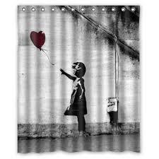 Grateful Dead Curtains 2017 Super Balloon Banksy Shower Curtain Bathroom
