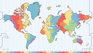 world map in zone map